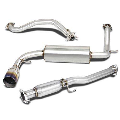 For Honda CR-X Catback Exhaust System 4.5 inches Burn Tip Muffler - 3 Door Hatchback ()