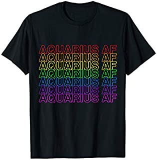 [Featured] Aquarius AF Gay Pride Rainbow Repeat Plastic Thank You Bag in ALL styles | Size S - 5XL