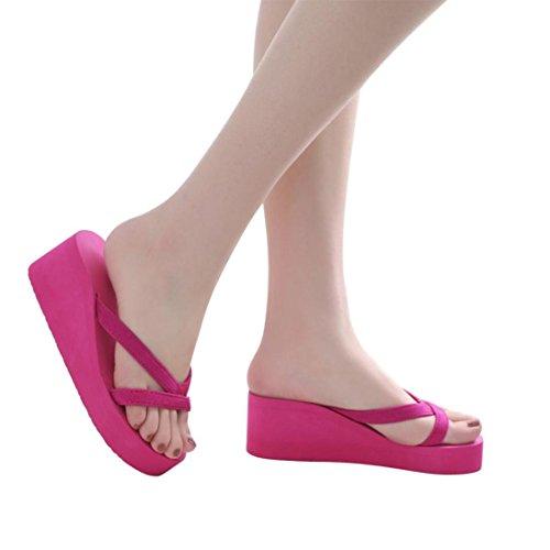 Playa Chanclas Chancletas De Zapatillas Zapatos Chanclas K Mujer Interior Sandalias De Youth by Verano Sandalias 2018 Mujer Rosa Aire Caliente Calzado Mujer Cuña Antideslizantes Libre Al wHq8zPZ
