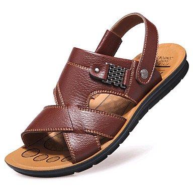 SHOES-XJIH&Hombre de sandalias de verano tacón plano exterior de nylon de sarga gancho &Amp; Bucle zapatos de agua,Negro,US7.5 / UE39 / UK6.5 / CN40