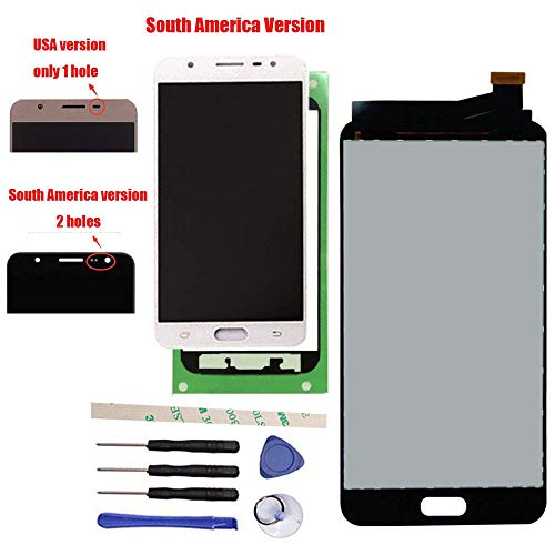 Draxlgon LCD Display Touch Screen Digitizer Assembly Replacement Galaxy J7 Prime G610 G6100 G610F SM- G610M/DS SM-610F/DS On7 2016 South America Version (White)
