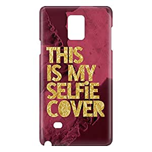 Loud Universe Samsung Galaxy Note 4 3D Wrap Around This Is My Selfie Cover Print Cover - Maroon