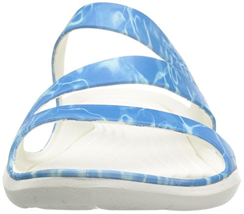 Crocs Womens Swiftwater Graphic Sandal Water/White JcLtRGcds