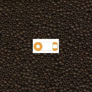 Brown Opaque Miyuki Japanese round rocailles glass seed beads 11/0 Approximately 24 gram 5 inch tube Dark Brown Seed Bead