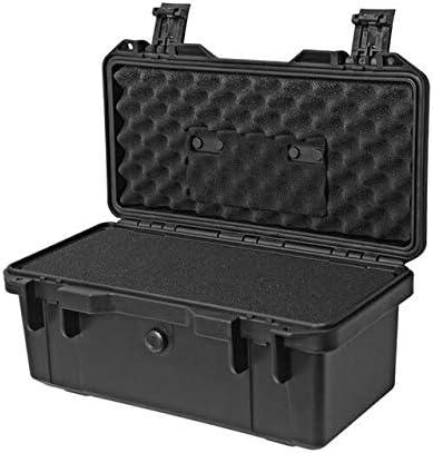 プラスチックツールボックス安全保護デバイス機器ケースハード保護ボックス防湿防水耐衝撃箱 (Color : Black)