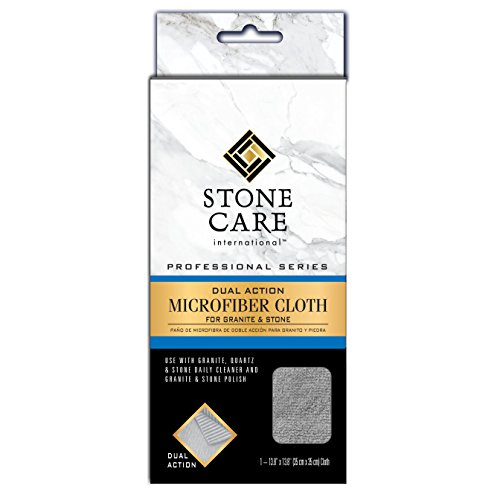Stone Care International Granite and Stone Dual Action Microfiber Cloth - Removes Dirt and Polishes Stone ()
