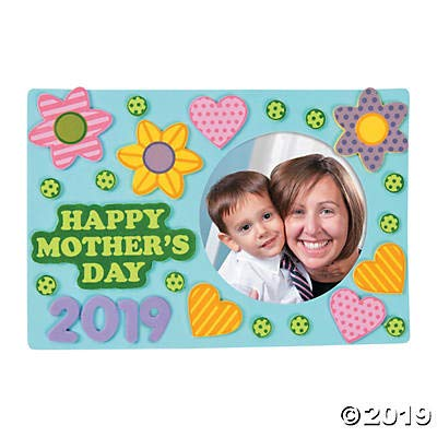 Happy Mothers Day picture frame Craft Kits - 12 sets of Mothers day crafts for kids to make -