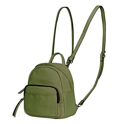 JUMENG Fashion Oxford Mini Backpacks for Women Girls Small Shoulder Bag Waterproof (Army Green) by JUMENG