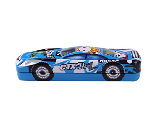 Fast Car Shaped Metal School Pencil Case (Blue) for $<!--$7.99-->