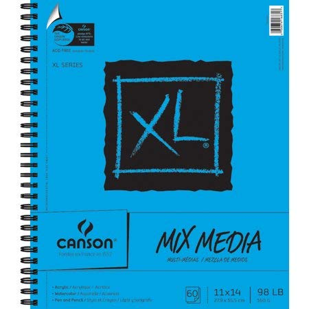 Canson XL Multi-Media Paper Pad, 60 Sheets - 11'' x 14'' by Canson