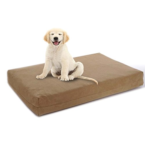 Pet Support Systems Orthopedic Gel Memory Foam Dog Beds - Eco Friendly, Hypoallergenic and Made in The USA, Supreme Luxury Comfort and Care for Dogs with Removable and Washable - 4.5 Memory Hr