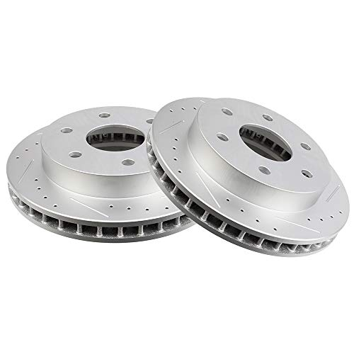 OCPTY Brake Rotors, Prime Choice Front Brake Disc Rotors Fit for Cadillac Escalade,Chevrolet Blazer/K1500/K1500 Suburban/K2500/Tahoe,GMC K1500 Suburban/K2500 Suburban,GMC Yukon