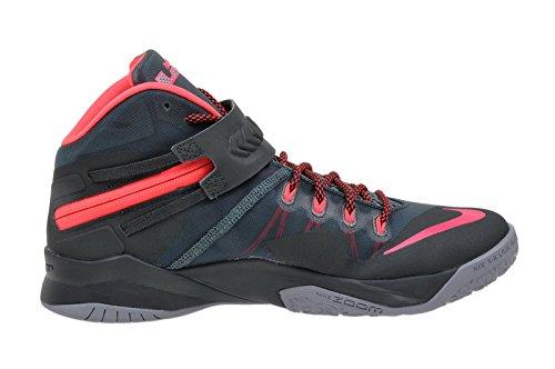 Nike Mens Zoom Soldaat Viii Basketbalschoen Mineraal Leisteen / Hyper Punch-zeewier-magneet Grijs