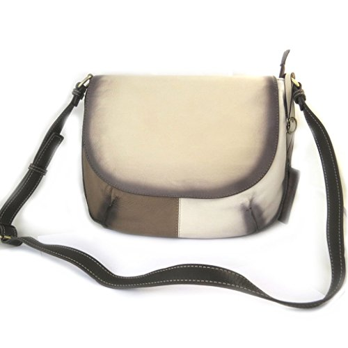 Leather bag 'Gianni Conti'beige shades - 32x23x7 cm (Beige Lily Shade)