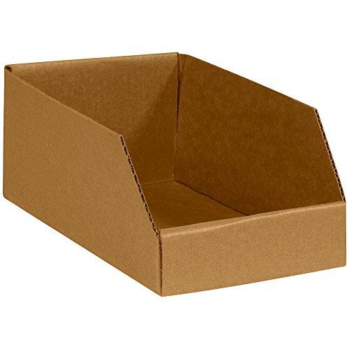 Corrugated Bin Shelving - Aviditi Open Top Bin Boxes, 6