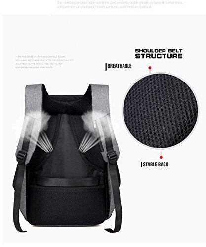 AUSERO Mochila Negocio Antirrobo Backpack Casual de Moda con USB Puerto de Carga para Portátil de 15.6 pulgadas Impermeable Hombre Mujer Unisex Viaje Escolar Negro negro