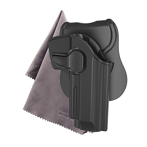 OWB Holster for Beretta 92 92FS GSG92, Outside Waistband Concealed Holsters,360 Degree Rotation Paddle Holster Also Fit Girsan Regard MC / Taurus PT92, Microfiber Cloth Included