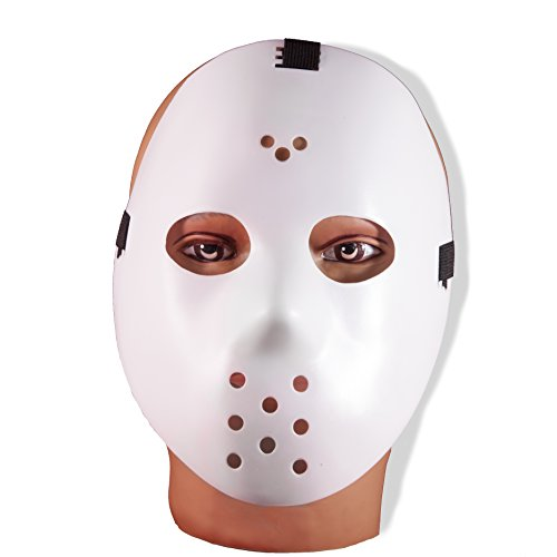 Hockey Mask (White) Adult Accessory (Hockey Mask Halloween Costume)