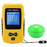 Portable Fish Finder Wireless Transducer Fishfinder for Boat,Kayak Ice Fishing, Shore Fishing and Sea Fashing