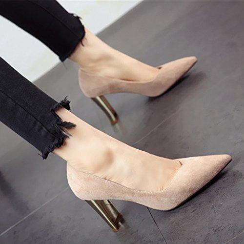verano moda La FLYRCX solo y lady superficialmente Zapato de de primavera alto a zapatos simple Zapato tacón trabajo sexy el señaló wFYYxdI