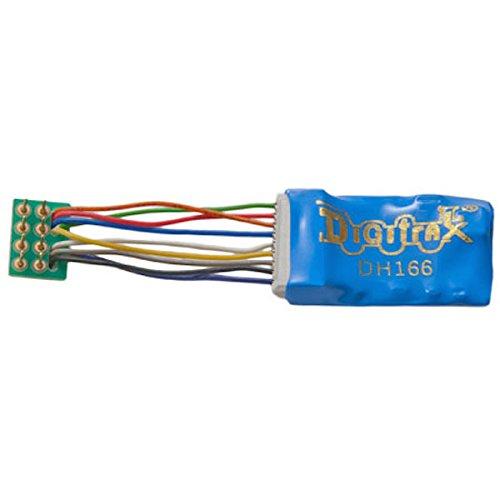 Digitrax DGTDH166PS HO DCC Decoder Prem S6, 1.2''Wires 6FN 8-Pin 1.5A