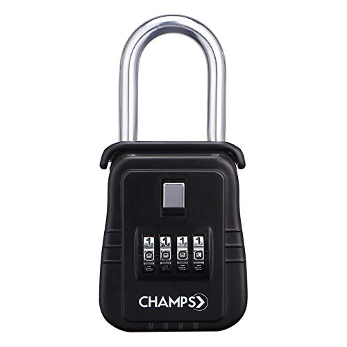 Champs Combination Realtor Lock, 4 Digit Comination Padlock, Real Estate Key Lock Box, Set-Your-Own Combination [12 Packs, Black] by Champs (Image #2)