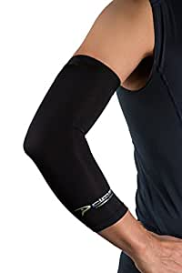 Copper Elbow Sleeve –The BestCompression Arm Sleeve - Great for Tennis, Weightlifting, Golf, Baseball, & Basketball - Click the Yellow Button at the Top of This Page to Protect your Elbow Joints!