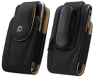 Quaroth Cellet Leather Excel Case Black For Motorola Theory