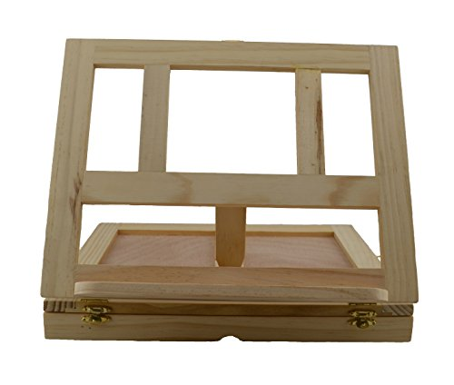 Strokes Art Supplies Artistic Wooden Desk Easel W13 inch H10 inch D2 inch With Drawer Includes Free Wooden Palette