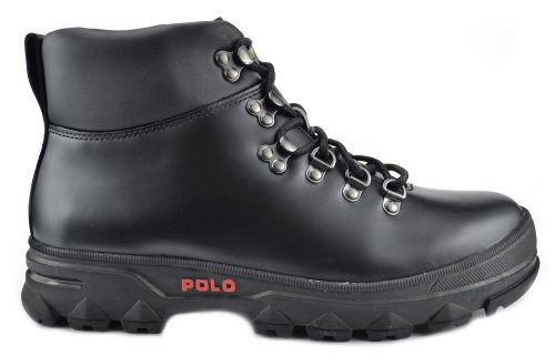 Polo Ralph Lauren Men Boots Hainsworth Smooth Leather Black