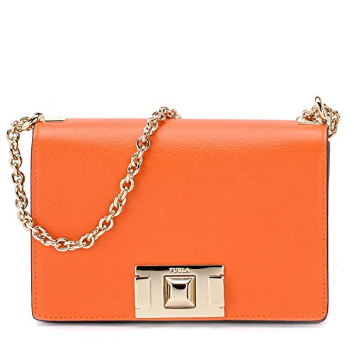 Furla Women's Furla Mimi Mini Crossbody Bag, Mandarin, Orange, One Size