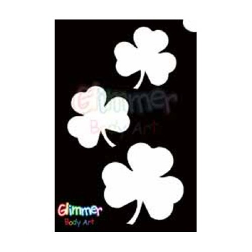 Glimmer Body Art Glitter Tattoo Stencils - Shamrocks