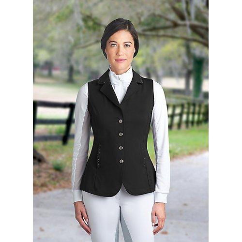 (Romfh Ladies Bling Dressage Vest 12 Black)