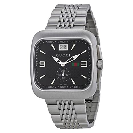 944cf31f608 Gucci G Coupe Quartz Black Dial Stainless Steel Mens Watch YA131305   Amazon.ca  Luggage   Bags