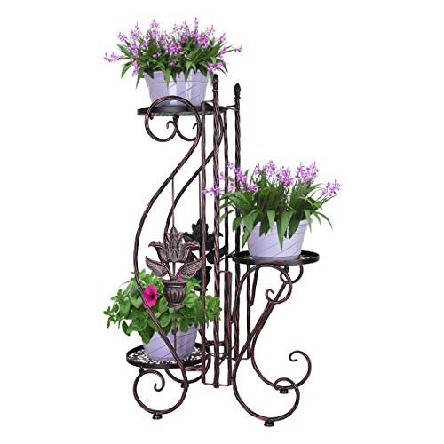 YP 3 Tier Indoor Outdoor Herb Flower Plant Planter 3 Pots Pot Flower Stand Stands with Modern S