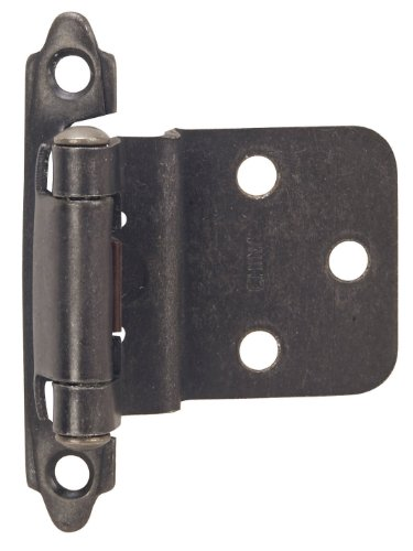 Hardware House 48-9062 3/8-Inch Inset Mount Cabinet Hinge, 2-Pack, Antique Pewter