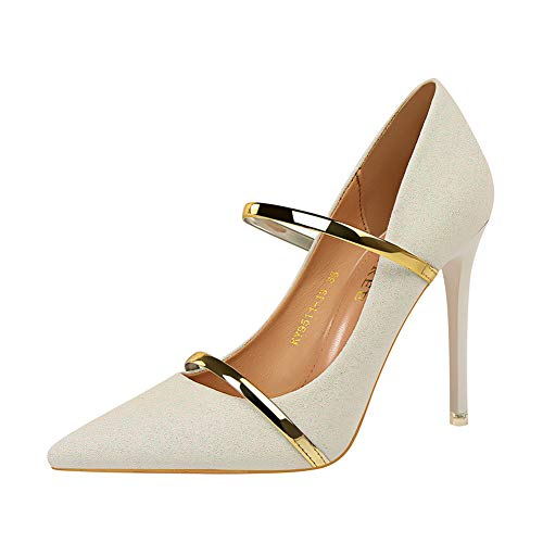 Zapatos Verano Tacón High Alto Mujer Sexy De Moquite Heels Blanco 2019 Primavera Fiesta Sandalias Moda U8qwYxtF
