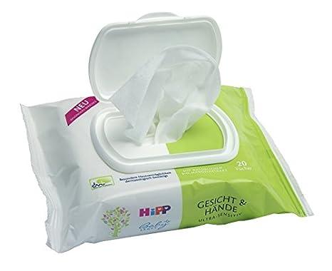 Hipp Baby suavemente cara y manos paños, 6 pack (6 x 20 unidades): Amazon.es: Salud y cuidado personal