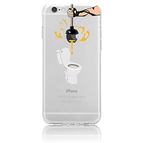 iPhone 6 Plus Case , iPhone 6S Plus Funda, Sunroyal® Transparente TPU Cáscara de Silicona Gel Ultra-Slim Fit Carcasa Tapa Case Cover Flexible Bumper Funda [Anti-Arañazos] [Anti-golpes] Accesorios Caja B-02