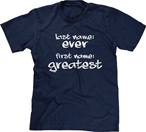 Blittzen Mens Last Name Ever First Name Greatest, XL, Navy Blue