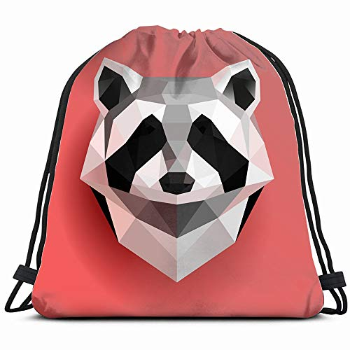 (Origami Paper Raccoon Abstract Animal Animals Wildlife Drawstring Bag Backpack Gym Dance Bag Reversible Flip Sequin Bling Backpack For Hiking Beach Travel Bags)