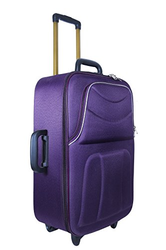 New Jersey Travellers {POLYESTER SOFTSIDED SUITCASE} Dark Purple  24 Size