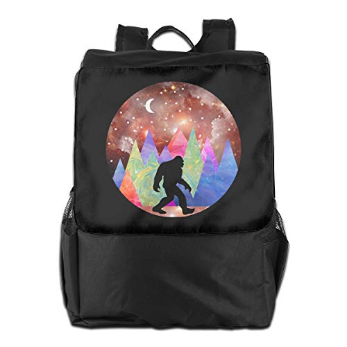 Mutli Color Forest Bigfoot Sasquatch Women Men Travel Backpack College School - Mutli Apparel