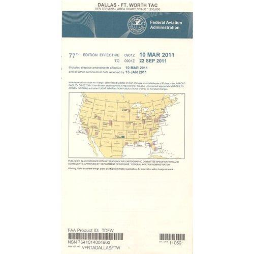 FAA Chart  VFR TAC DALLAS FT WORTH TDFW (Current - Chart Terminal Area