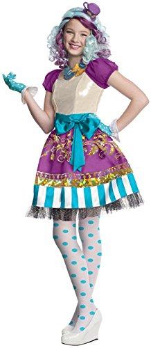 Madeline Hatter Girls Costumes Wig (Childs Girl's Cute Ever After High Madeline Hatter Dress Costume Medium 8-10)