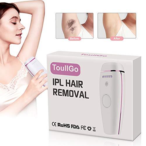 Permanent Hair Removal, IPL Epilator Hair Removal, 500,000 Flashes Painless Intense Pulsed Light Epilator for Women and Men, 5 Settings for Face & Body