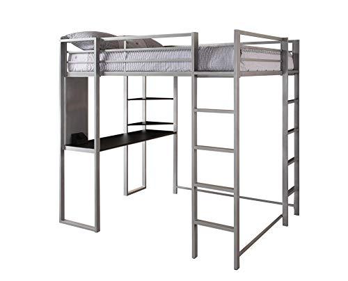 DHP Adobe Loft Bed, Silver, Full
