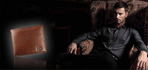 Hemlock Bifold Business Wallets, Men Leather Wallet Credit Card Holder Pocket Purse (Black) by Hemlock (Image #3)