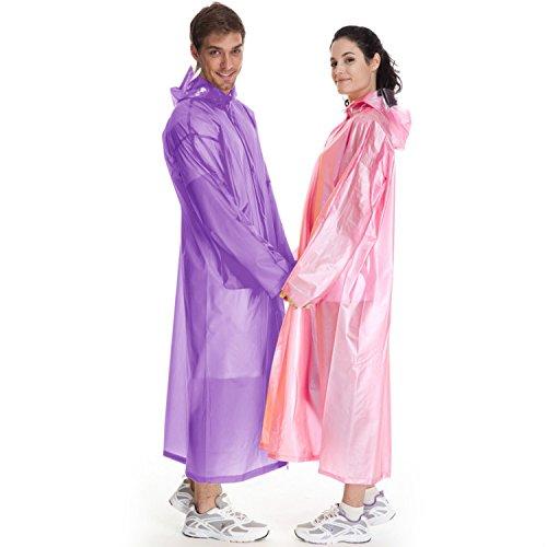 imperméable d'urgence Poncho imperméable pour adulte violet EaEq5