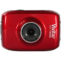Vivitar DVR 783HD 5.1MP Action Camera, 720p Video at 30fps, 1.8 Screen, Red